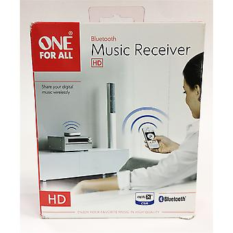 One For All SV1820 Plug and Play HD Bluetooth Music Receiver - White