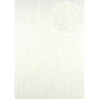 5.33 m2 wallpaper ATLAS stripes CLA-596-1 non-woven wallpaper smooth with graphical pattern glittering white perl white