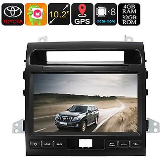 Two DIN Car Media Player - For Land Cruiser, 10.2 Inch, Android 8.0, Bluetooth, GPS, WiFi, 3G, Octa-Core CPU, 4GB RAM