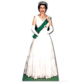 Recorte de cartón de tamaño natural de Reina Elizabeth 1956