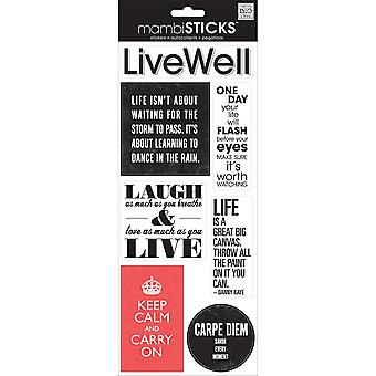 Sayings Stickers-Live Well