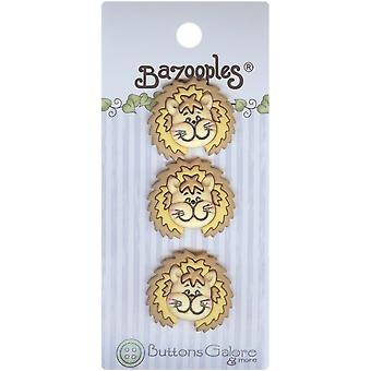 BaZooples Buttons-Lester The Lion