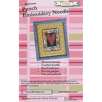 Miniature Punch Embroidery Needle-Red 3-Strand
