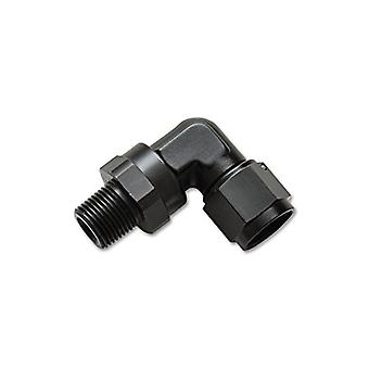 Vibrant Performance 11386 Female to Male Swivel 90 Degree Adapter Fitting Size: -8AN Female x 1/4in. NPT Male Swivel 606
