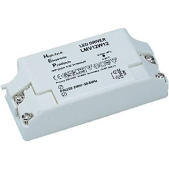 SLV 12W, 12V LED transformer Constant voltage 12 W 0 - 1 A 12 Vdc not dimmable, Suitable for flammable surfaces, Surge p