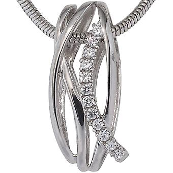 Trailer 333 gold white gold pendant with cubic zirconia gold devoured
