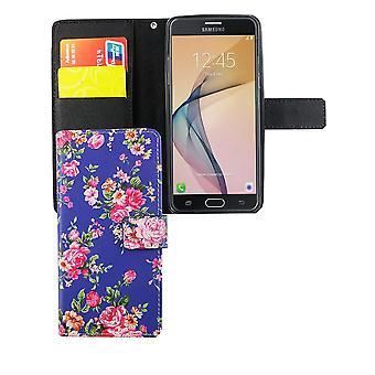 Mobiele telefoon geval zakje voor mobiele Samsung Galaxy J5 Prime flower print
