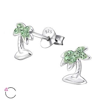 Palm Tree kristal van Swarovski® - 925 Sterling Zilver Kinder Ear Studs