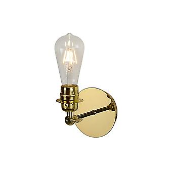 Lucide Retro Brass Vintage Style E27 Wall Sconce