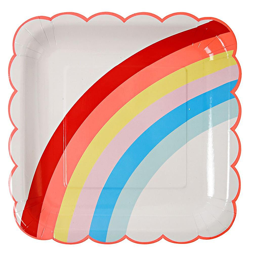 Toot Sweet Rainbow Large Paper Plate x 12 Birthday Celebrations
