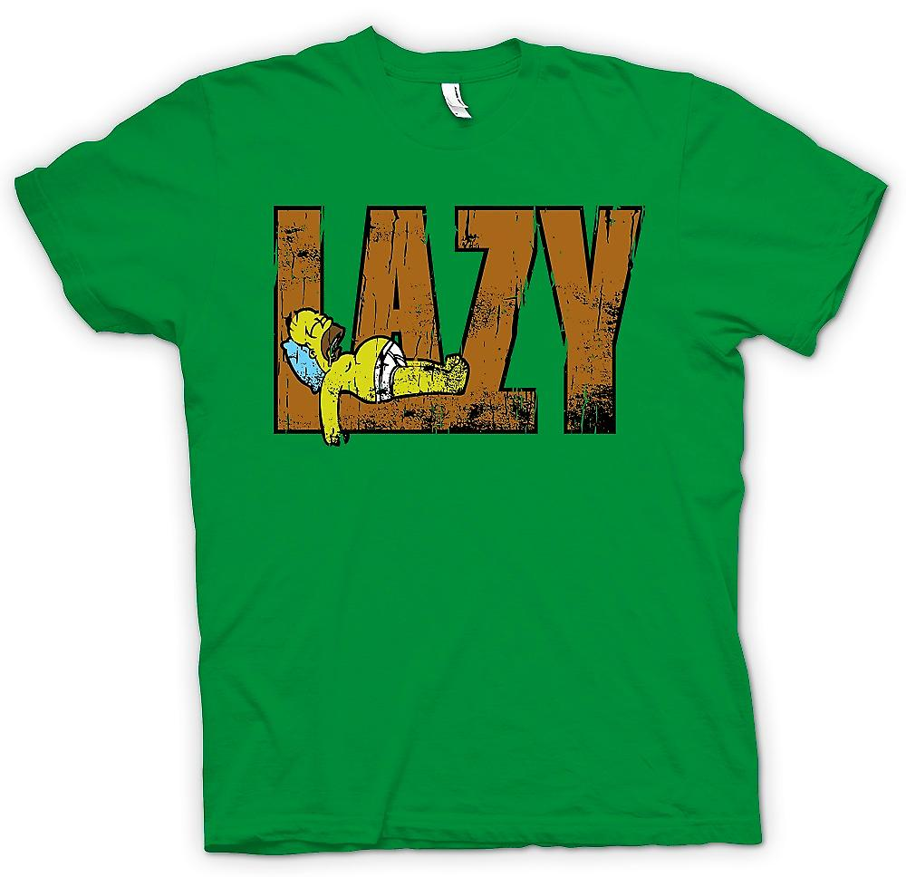 Mens T-shirt-Homer - Lazy - Simpsons inspiriert