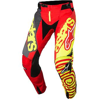 Alpinestars Red-Yellow-Anthracite 2018 Techstar Venom MX Pant