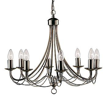 Searchlight 6348-8AB Maypole 8 Light Ceiling Pendant
