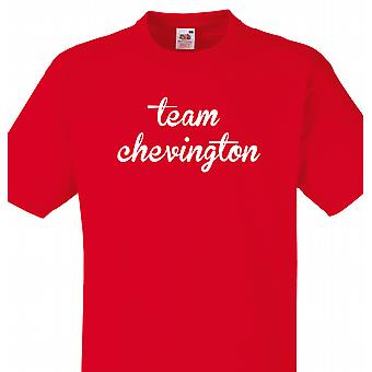 Team Chevington rød T shirt