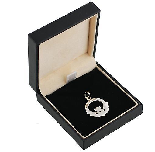 Silver 20mm Claddagh Pendant