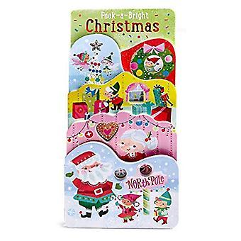 Peek-A-Bright Christmas (Tall Tiered Board Book) [Board book]