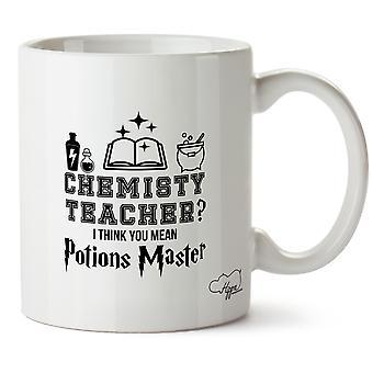 Hippowarehouse professor de química? Acho que a média de poções impresso caneca copo cerâmico 10oz