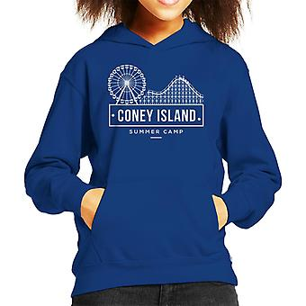 Coney Island Summer Camp Kid's Hooded Sweatshirt