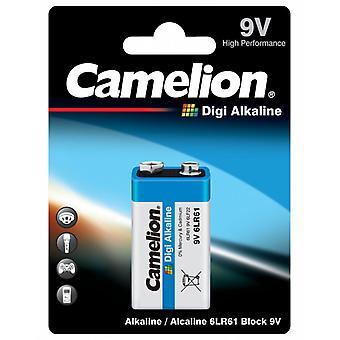 Batteriet 9V Camelion Digi alkalisk 6LR61, 9 Volt