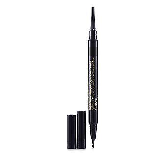 Estee Lauder Double Wear Stay In Place Waterproof Liquid Liner + Pencil - # 01 Onxy - 0.53g/0.012oz