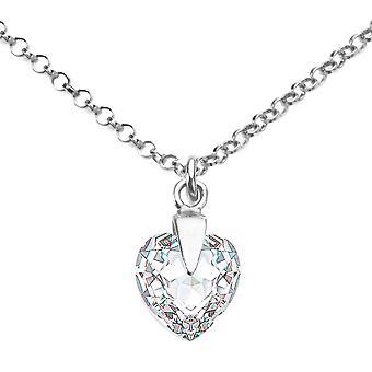 Ah Jewellery Clear Heart Crystal From Swarovski
