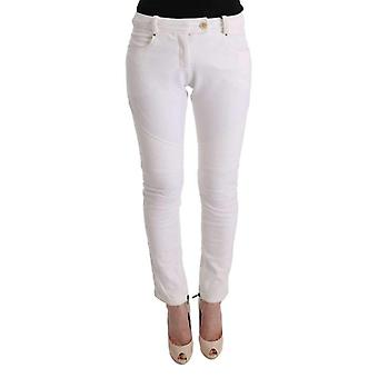 Ermanno Scervino White Cotton Slim Fit Casual Pants -- SIG3551536