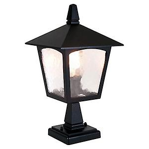 Elstead BL7 BLACK York Traditional Old English Style Outdoor Pedestal Lantern