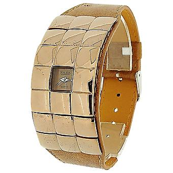Zaza London Ladies Brown Extra Small Dial Brown Mirror & Brown PU Strap Watch