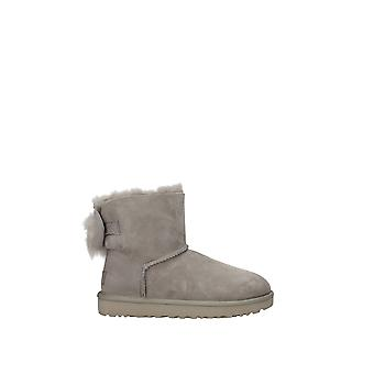 Ugg Grey Cotton Ankle Boots
