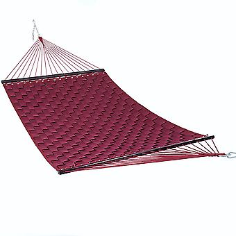 Outdoor Garden Patio Double Hammock in  Burgundy