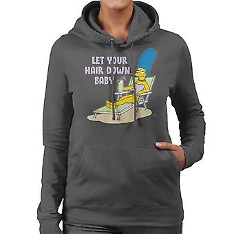 The Simpsons Let Your Hair Down Baby Women's Hooded Sweatshirt