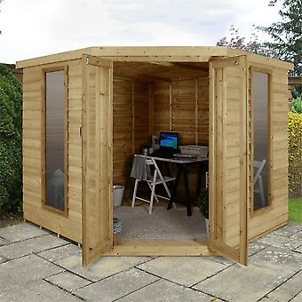Forest Garden Oakley Overlap 8x8ft Corner Summerhouse