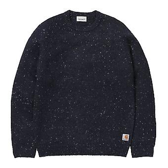 Carhartt WIP Anglistic Sweater  Dark  Heather