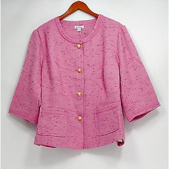 Joan Rivers Classics Collection Women's Plus Basic Jacket Pink A233808