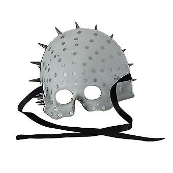 Tacon negro Media máscara de calavera