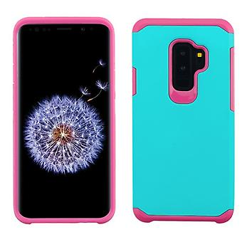 ASMYNA Teal Green/Hot Pink Astronoot Phone Protector Cover  for Galaxy S9 Plus