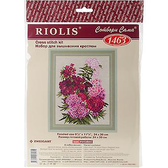 Sweet William geteld Cross Stitch Kit-9.5