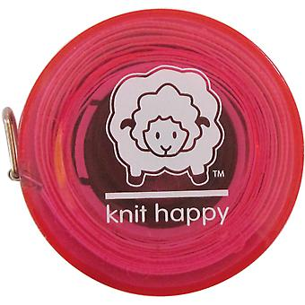 Knit Happy Tape Measure Pink Kh652 Pi