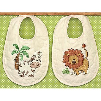 Kimba Baby Bibs Stamped Cross Stitch Kit 9
