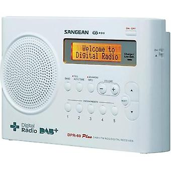 DAB+ Portable radio Sangean DPR-69+ DAB+, FM Battery charger White