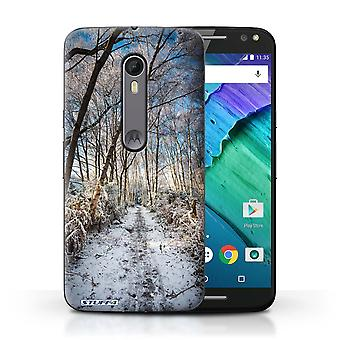 STUFF4 Case/Cover for Motorola Moto X Style/Frozen Path/Winter Season