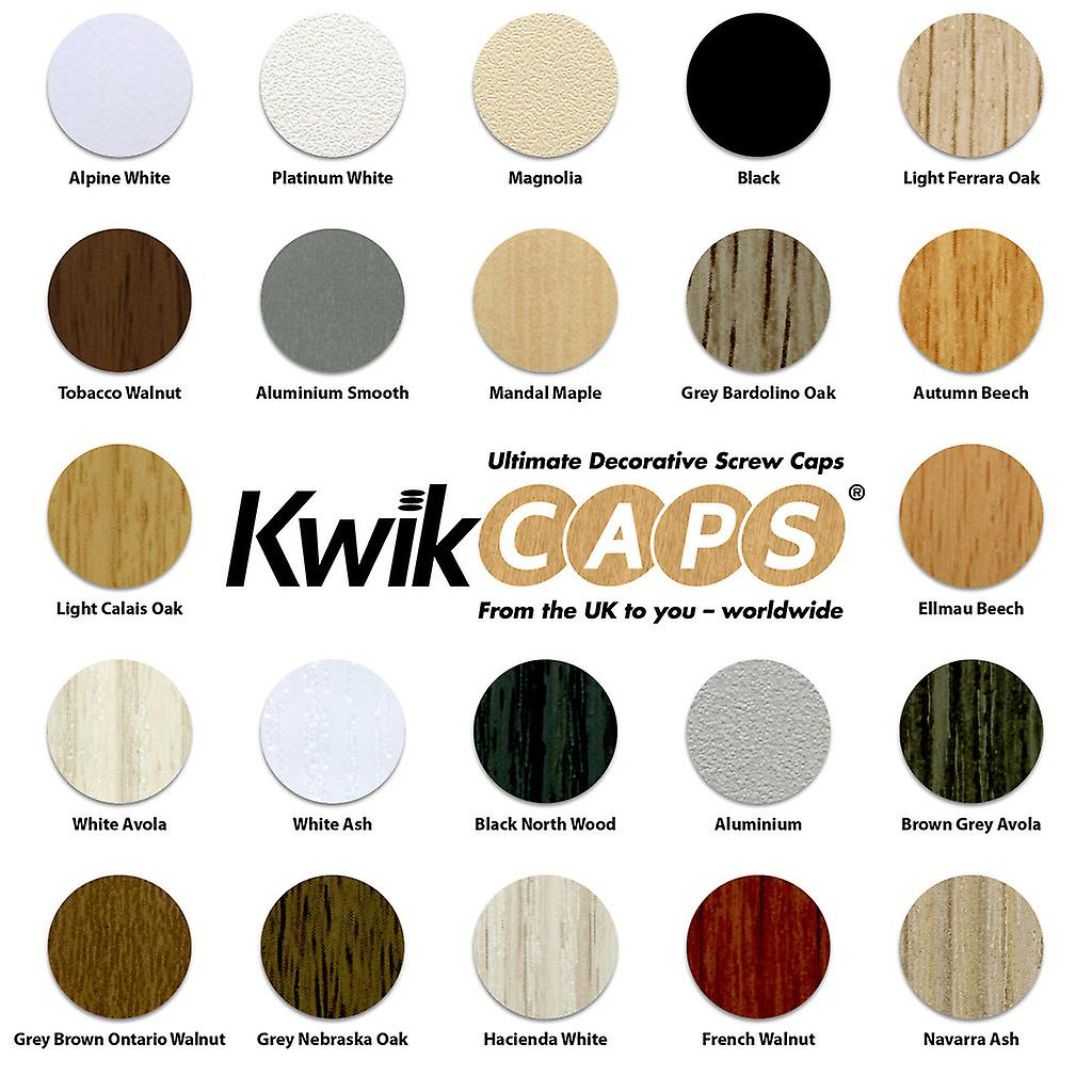KwikCaps® Self Adhesive Screw Cover Caps. Nail and Cam Covers 13mm & 20mm