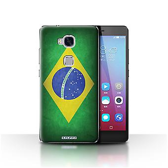 STUFF4 Custodia/Cover per Huawei Honor 5 X/GR5/Brasile/brasiliano/bandiere