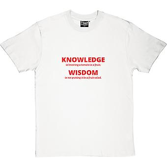 Knowledge vs Wisdom Men's T-Shirt