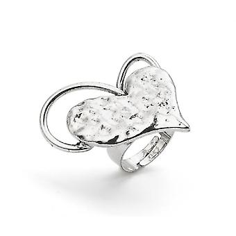 Jewel City Heart Ring - Silver Aged (Mode-accessoires , Imitatiesieraden , Ringen)