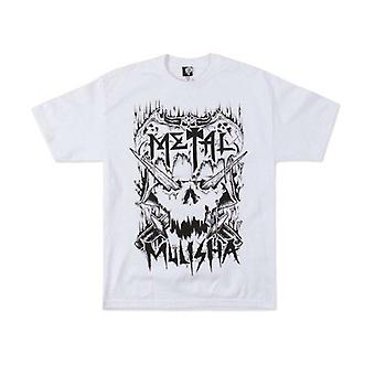 Metal Mulisha Mens Tshirt Tee Top White Skull Crossbones Metalhead