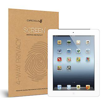 Celicious Privacy Plus Apple iPad 4 4-fach optischen Black Out Screen Protector