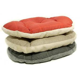 Rilassarsi in cotone & pelliccia letto colori misti 80 X 52cm (confezione da 3)