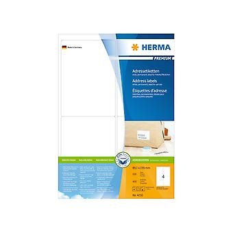 Address labels white 99, A4 6x139 Herma 400 Premium pcs.
