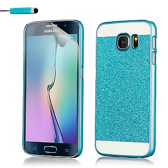 Glitter case for Samsung Galaxy S6 Edge SM-G925 - Deep Blue